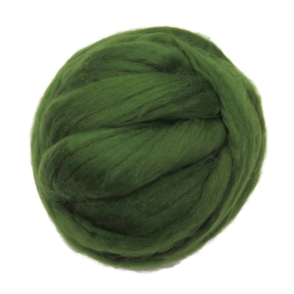 Merino / Silk Roving color: ( Ivy )- Neutral Color Mulberry Wool Silk Blend Fiber for Spinning & Felting