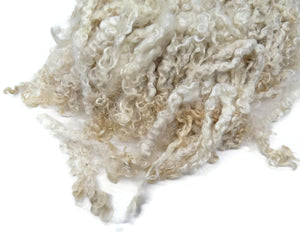 Prime Kid Mohair wool locks hand picked and seperated, colour Natural white SM-2