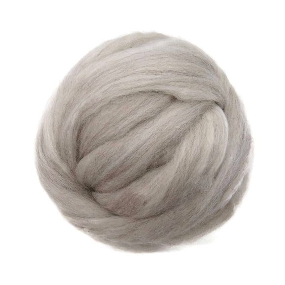 Natural Corriedale  Wool Roving, Light Beige Mix