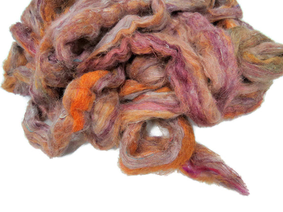 Pulled Tussah Silk Roving, color: Casablanca PS-15