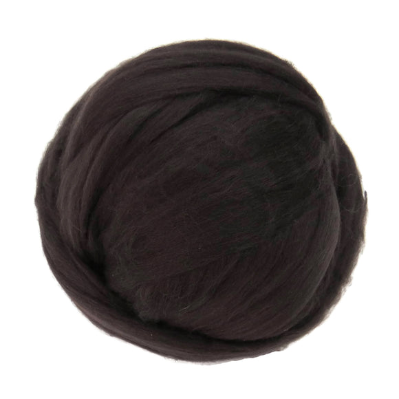 Merino / Silk  Roving, ( Coffee )