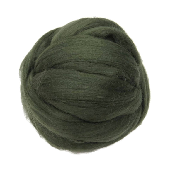 Merino / Silk Roving, Musk - Neutral Color Mulberry Wool Silk Blend Fiber for Spinning & Felting