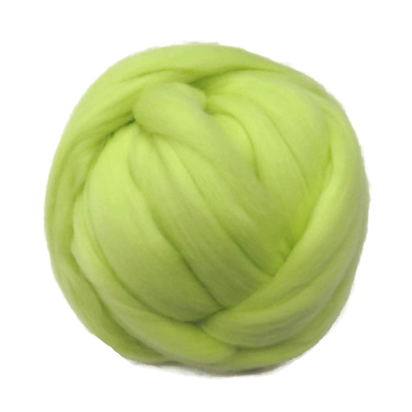 SALE! 21.5mic Merino Wool Roving , Retro Yellow