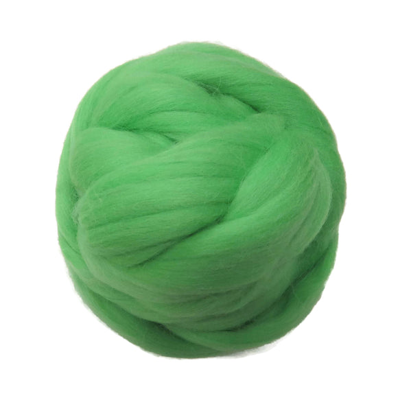 SALE! 21.5mic Merino Wool Roving , Color: Irish Spring