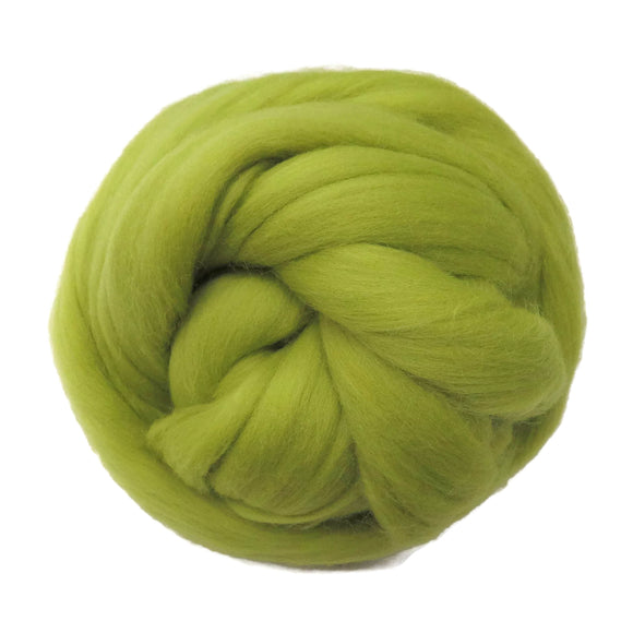 SALE! 21.5mic Merino Wool Roving , Color: Chartreuse Yellow