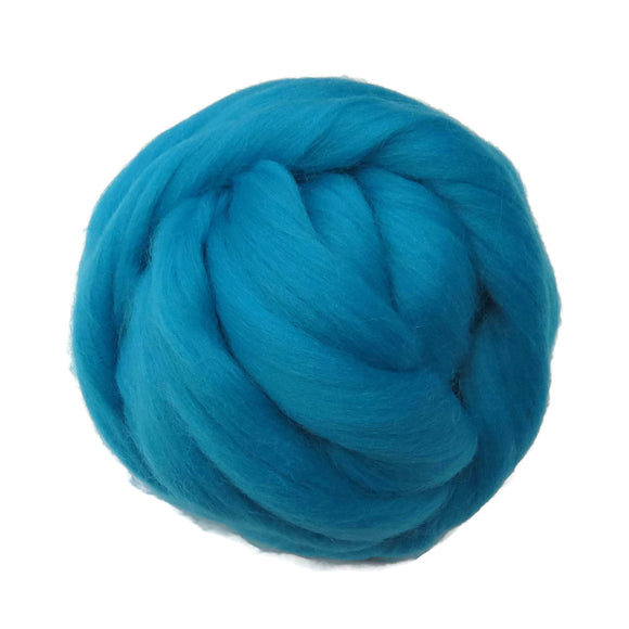 SALE! 21.5mic Merino Wool Roving , Color: Aquamarine