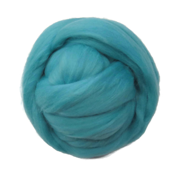 SALE! 21.5mic Merino Wool Roving , Color: Water