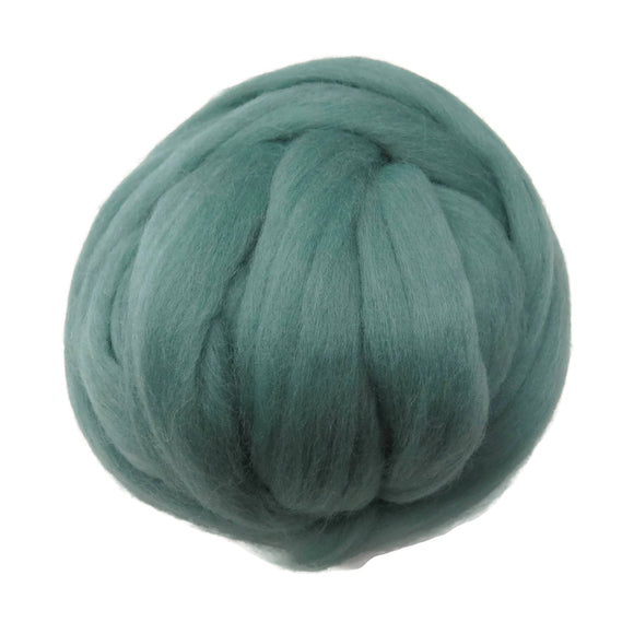 SALE! 21.5mic Merino Wool Roving , Color: Sage