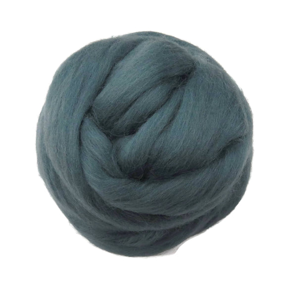SALE! 21.5mic Merino Wool Roving , Color: Gray Green