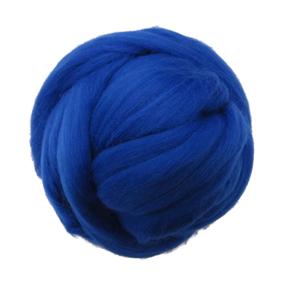 SALE! 21.5mic Merino Wool Roving , Color: Peacock Blue