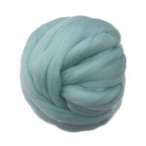 SALE! 21.5mic Merino Wool Roving , Color: Celadon