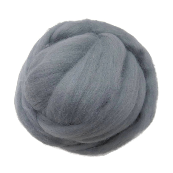 SALE! 21.5mic Merino Wool Roving , Color: Dolphin Gray