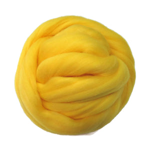 SALE! 21.5mic Merino Wool Roving , Color: Canary Yellow
