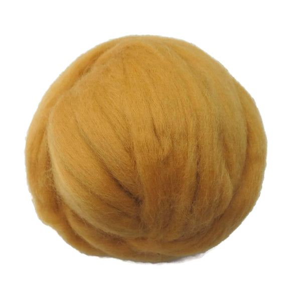 SALE! 21.5mic Merino Wool Roving , Color: Topaz