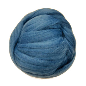 NEW! Superfine Merino wool roving 19 microns , Color: Denim (jeans)