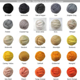 SALE! Superfine Merino 64s Wool Roving , Color: Pewter