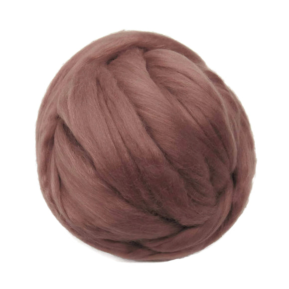 Merino / Silk Roving, Color: ( Lace )- Beautiful neutral Antique Rose Tone Mulberry Wool Silk Blend Fiber for Spinning & Felting