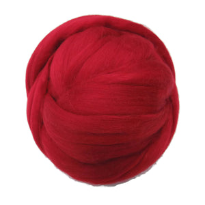 Merino / Silk Roving, Color: ( Fire )- Beautiful warm Tone Mulberry Wool Silk Blend Fiber for Spinning & Felting