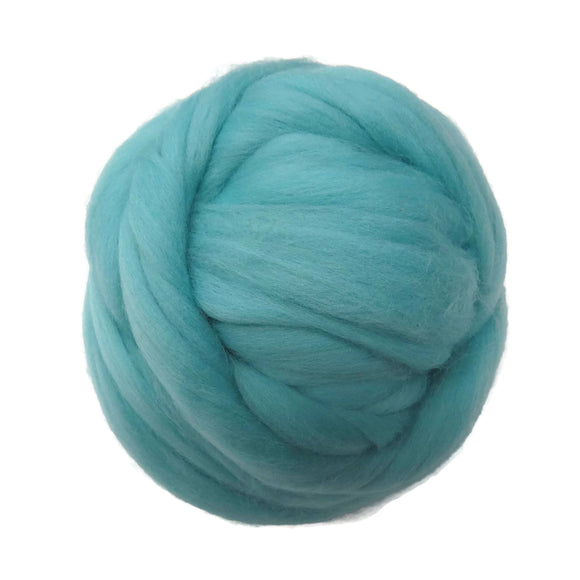 SALE! 21.5mic Merino Wool Roving , Color: Seafoam