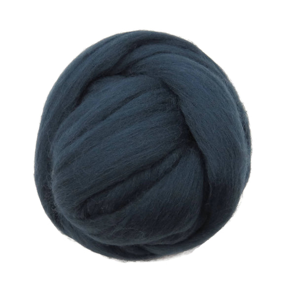 SALE! 21.5mic Merino Wool Roving , Color: Slate Blue