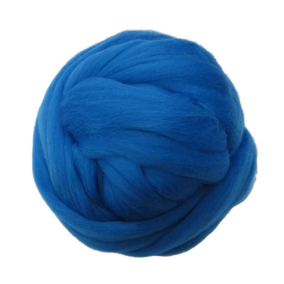 SALE! 21.5mic Merino Wool Roving , Color: Lapis