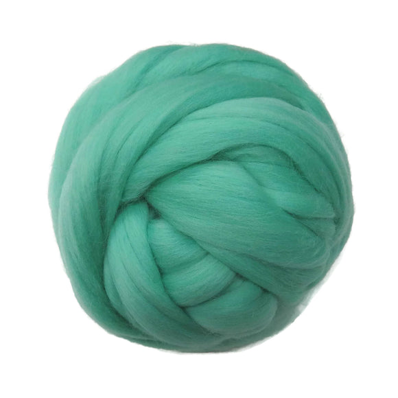 SALE! 21.5mic Merino Wool Roving , Color: Mint