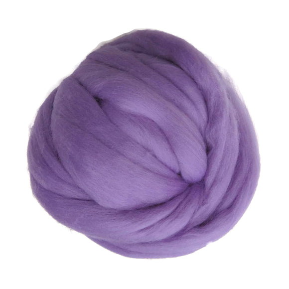 SALE! 21.5mic Merino Wool Roving , Color: Pansy Lavender