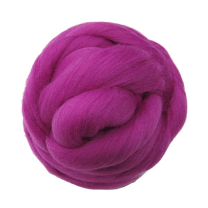 SALE! 21.5mic Merino Wool Roving , Color: Magenta