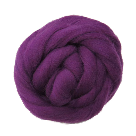 SALE! 21.5mic Merino Wool Roving , Color: Purple Rain
