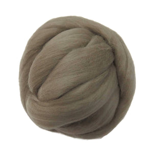SALE! 21.5mic Merino Wool Roving , Color: Taupe