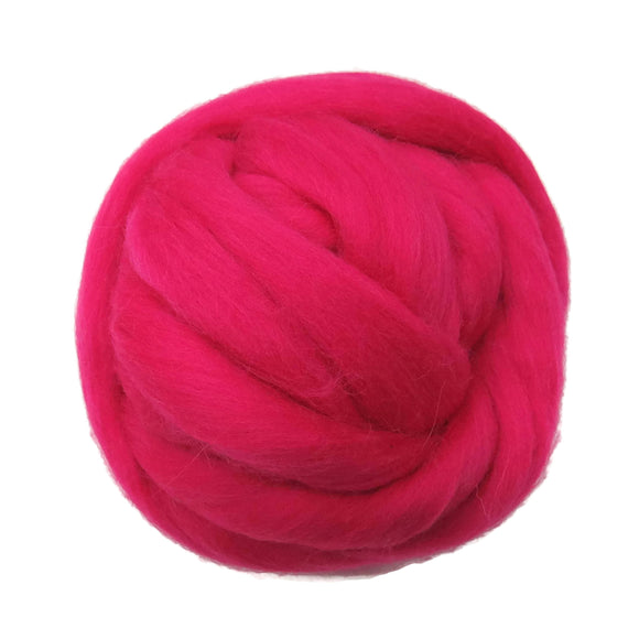 SALE! 21.5mic Merino Wool Roving , Color: Cotton Candy