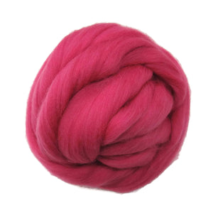 SALE! 21.5mic Merino Wool Roving , Color: Berry Pink