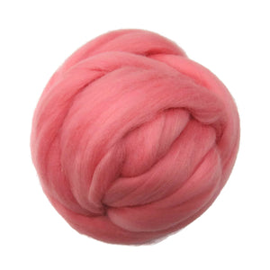 SALE! 21.5mic Merino Wool Roving , Color: Peach's & Cream