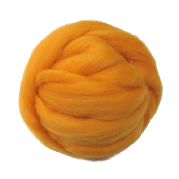 SALE! 21.5mic Merino Wool Roving , Color: Daffodil