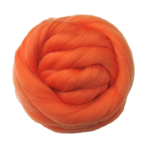SALE! 21.5mic Merino Wool Roving , Color: Apricot