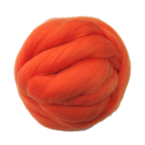 SALE! 21.5mic Merino Wool Roving , Color: Burnt Orange