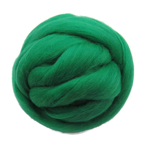 SALE! 21.5mic Merino Wool Roving , Color: Rain Forest