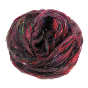 Pulled Tussah Silk Roving, color: Multi Mix (PS-8)