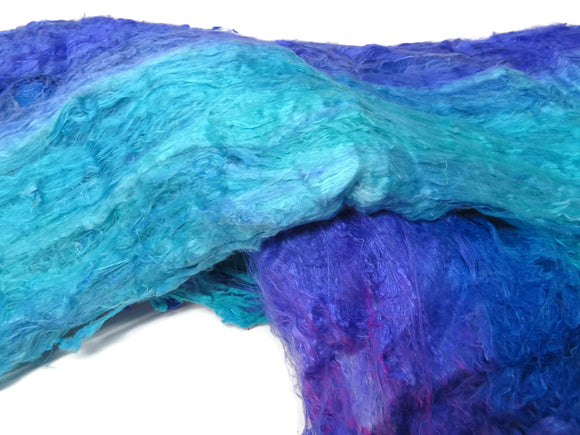 Mulberry silk Lap hand-dyed in tones of  Dream / Turquoise
