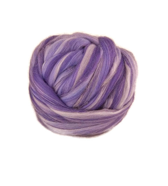 4 oz merino wool roving 19 microns ,color blend (Gillyflower)