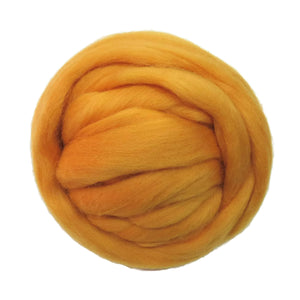 SALE! 21.5mic Merino Wool Roving , Color: Sunflower
