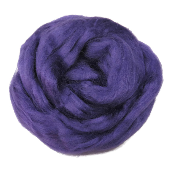 Viscose Fiber for felting ,spinning, paper making and art batts . color: Violet