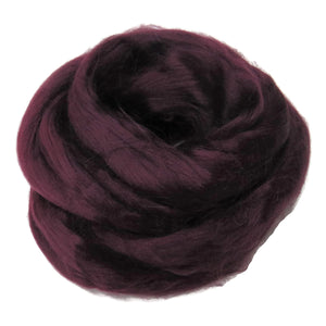Viscose Fiber for felting ,spinning, paper making and art batts . color: Purple