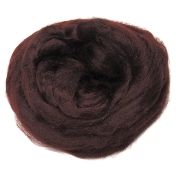 Viscose Fiber for felting ,spinning, paper making and art batts . color: Chocolat
