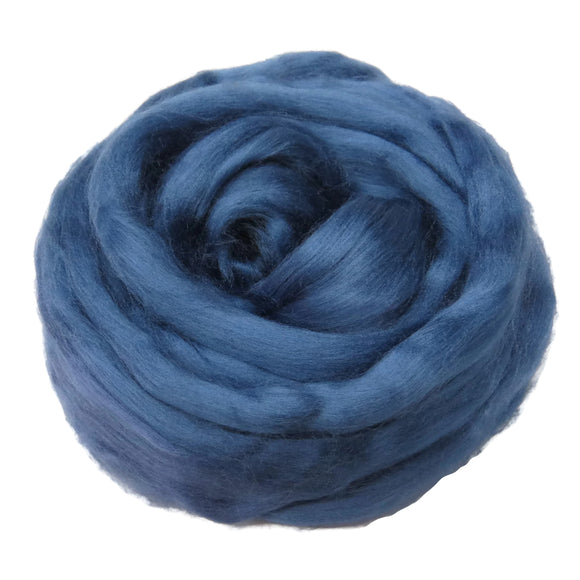 Viscose Fiber for felting ,spinning, paper making and art batts . color: Denim
