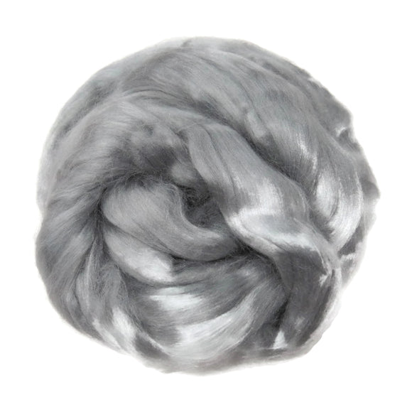 Viscose Fiber for felting ,spinning, paper making and art batts . color: Cloud