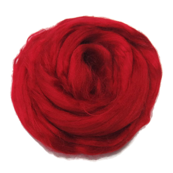 Viscose Fiber for felting ,spinning, paper making and art batts . color: Passion