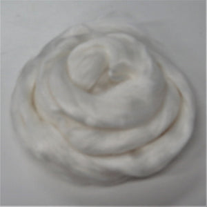 Viscose Fiber for felting ,spinning, paper making and art batts . color: Snow
