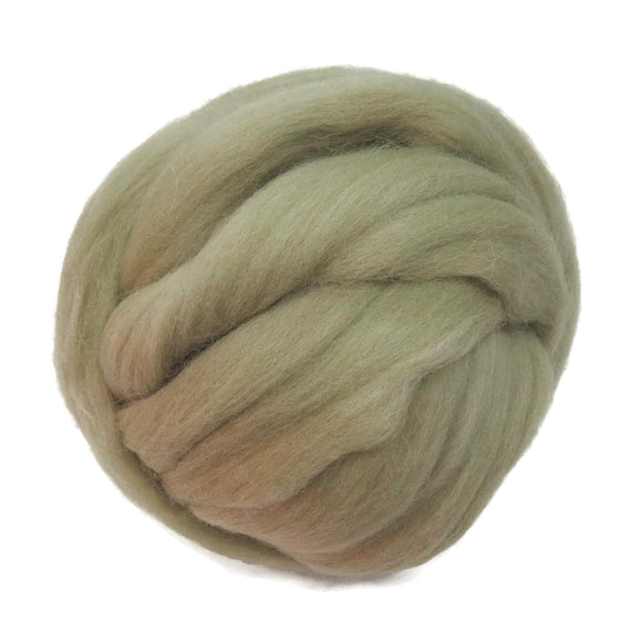 SALE! 21.5mic Merino Wool Roving , Color: Fern