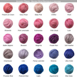 SALE! 21.5mic Merino Wool Roving , Color: Carnation pink